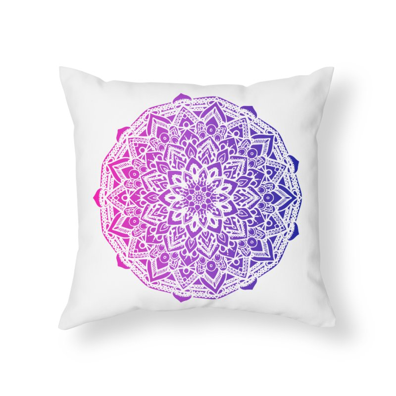 Bi Mandala Home Throw Pillow by Prismheartstudio 's Artist Shop