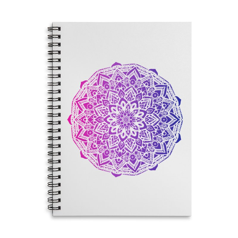 Bi Mandala Accessories Lined Spiral Notebook by Prismheartstudio 's Artist Shop