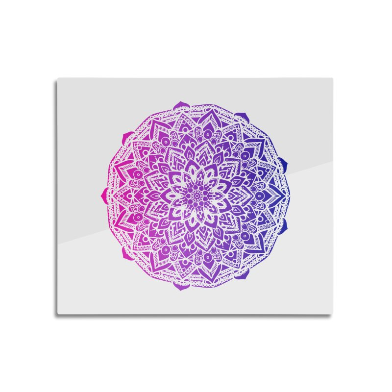 Bi Mandala Home Mounted Aluminum Print by Prismheartstudio 's Artist Shop