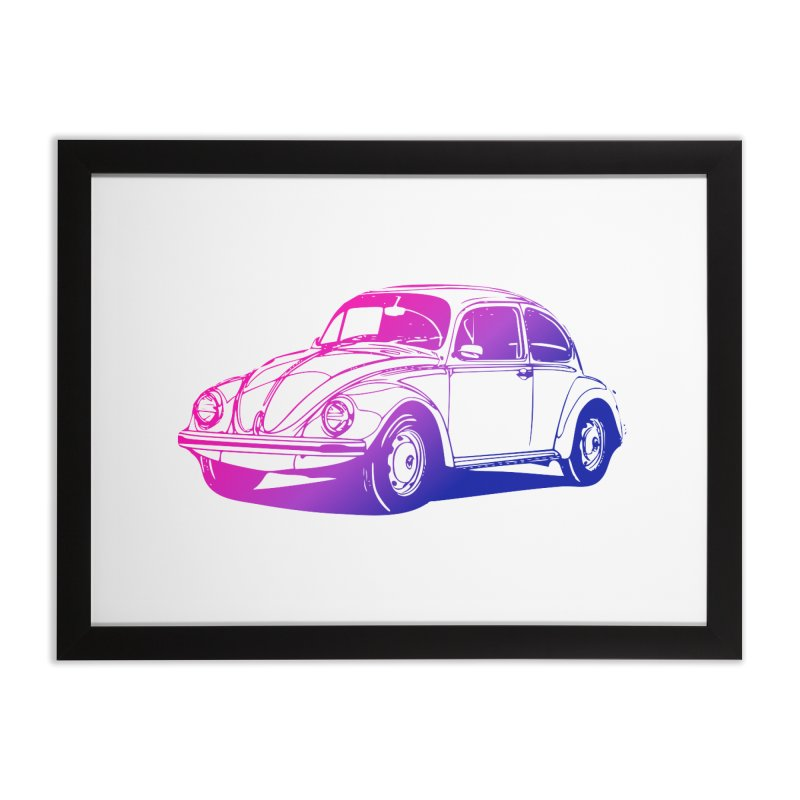The LOVE Bug Home Framed Fine Art Print by Prismheartstudio 's Artist Shop