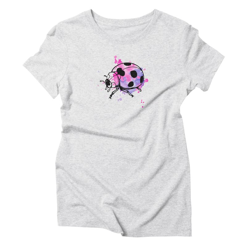 LadyBug Love Women's Triblend T-Shirt by Prismheartstudio 's Artist Shop