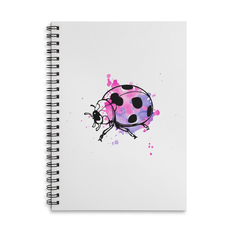 LadyBug Love Accessories Lined Spiral Notebook by Prismheartstudio 's Artist Shop