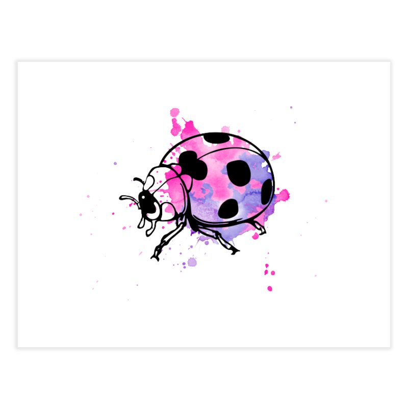 LadyBug Love Home Fine Art Print by Prismheartstudio 's Artist Shop