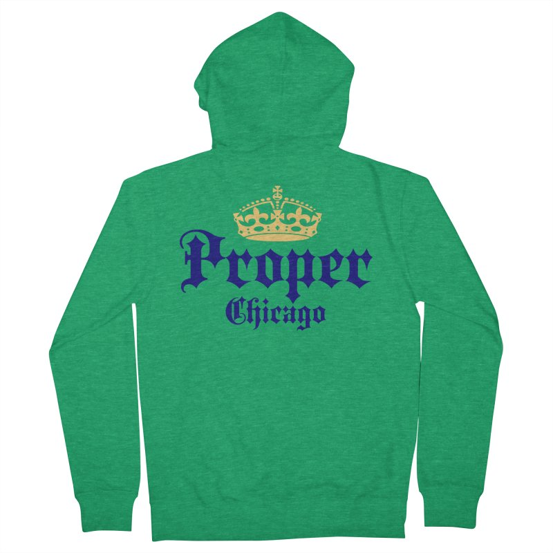 Proper Men's Zip-Up Hoody by Properchicago's Shop