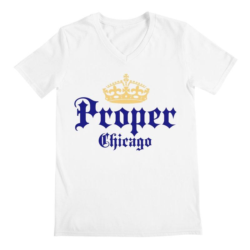 Proper Men's V-Neck by Properchicago's Shop