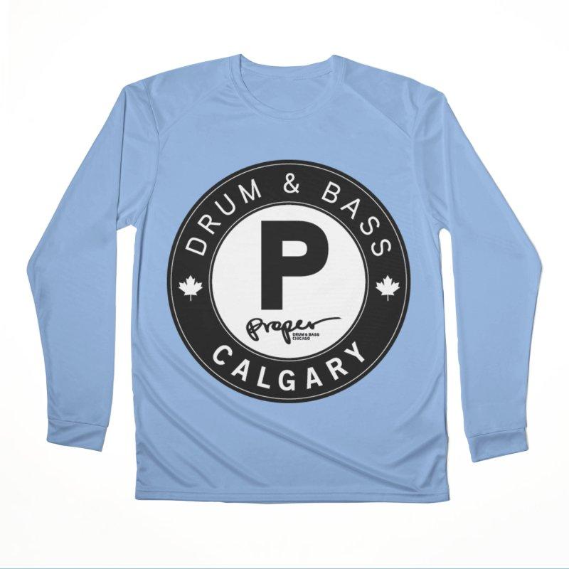 PROPER CALGARY (Maple Leaf) Men's Longsleeve T-Shirt by Properchicago's Shop