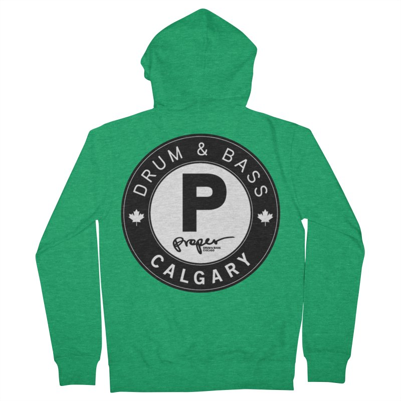 PROPER CALGARY (Maple Leaf) Men's Zip-Up Hoody by Properchicago's Shop