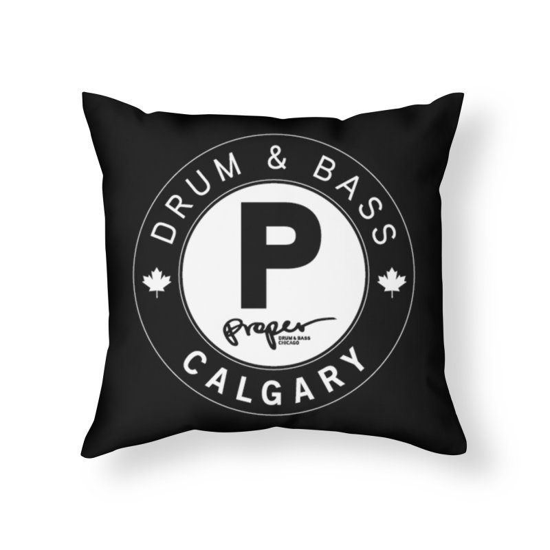 PROPER CALGARY (Maple Leaf) Home Throw Pillow by Properchicago's Shop