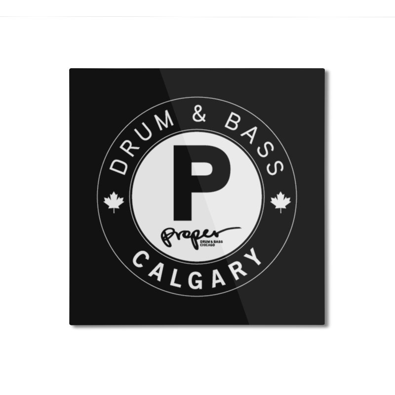 PROPER CALGARY (Maple Leaf) Home Mounted Aluminum Print by Properchicago's Shop