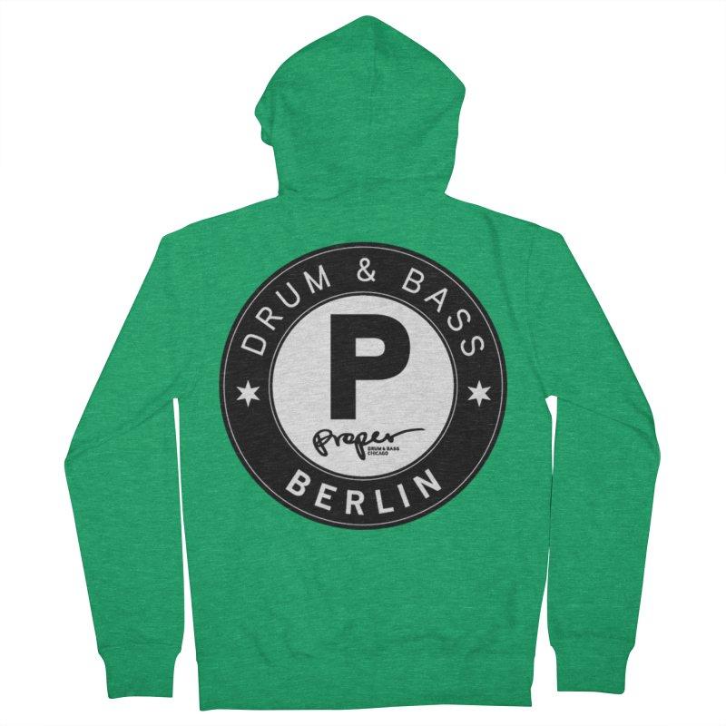 PROPER BERLIN Men's Zip-Up Hoody by Properchicago's Shop
