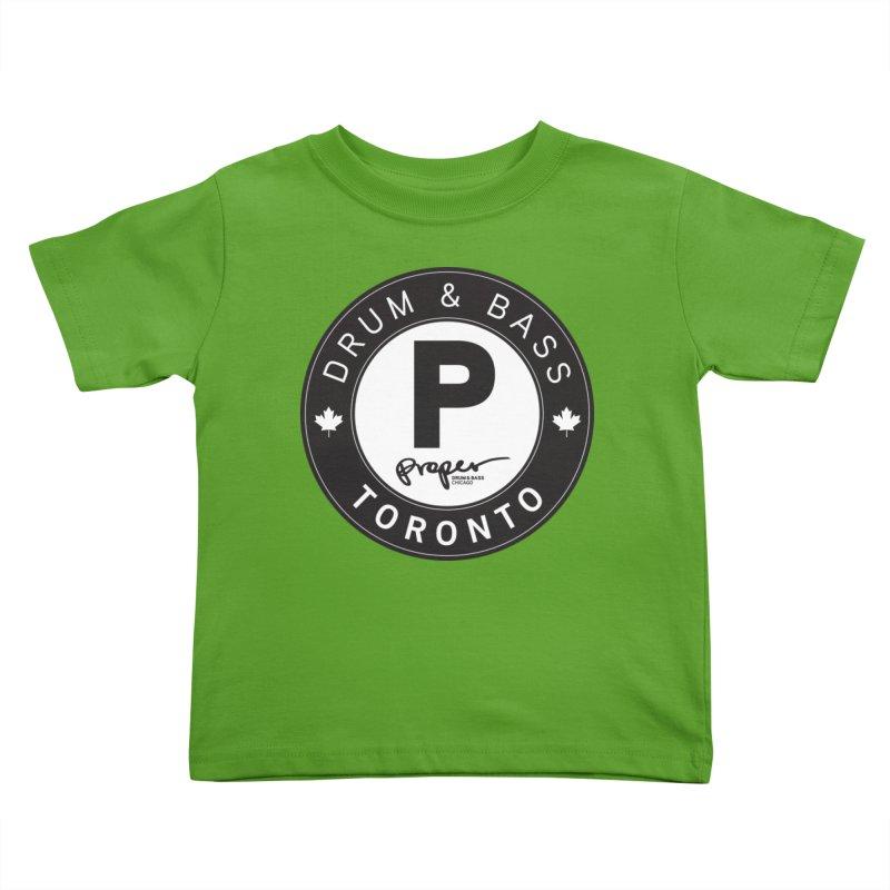 Proper TORONTO (Maple Leaf) Kids Toddler T-Shirt by Properchicago's Shop