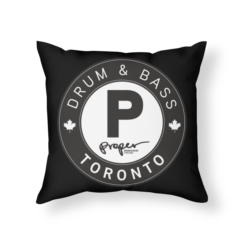 Proper TORONTO (Maple Leaf) Home Throw Pillow by Properchicago's Shop
