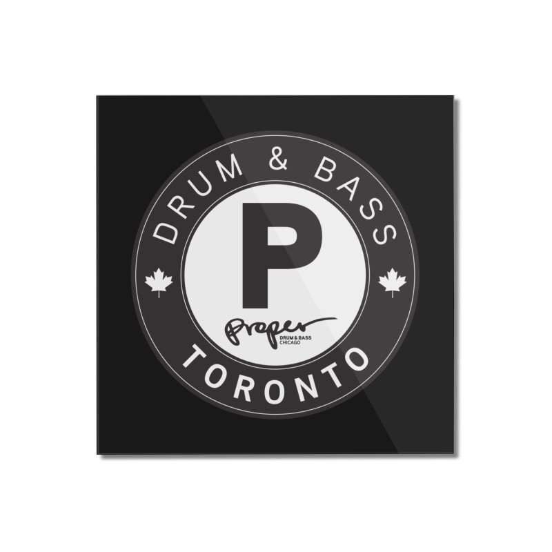 Proper TORONTO (Maple Leaf) Home Mounted Acrylic Print by Properchicago's Shop