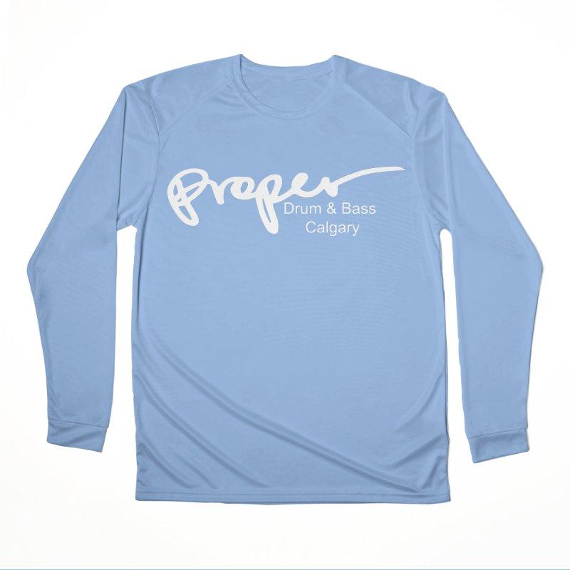 Proper OG Logo CALGARY (white) Men's Longsleeve T-Shirt by Properchicago's Shop
