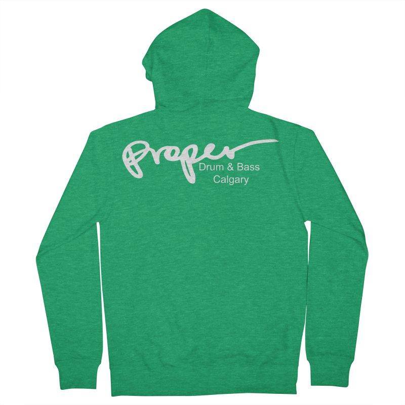 Proper OG Logo CALGARY (white) Men's Zip-Up Hoody by Properchicago's Shop