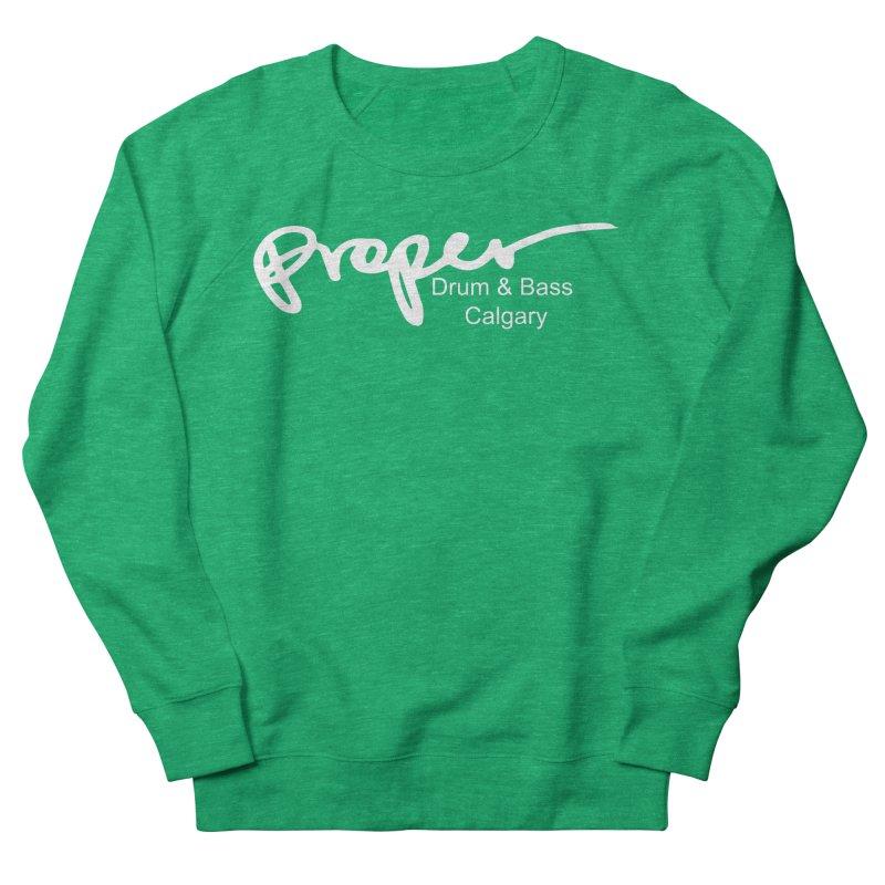 Proper OG Logo CALGARY (white) Women's Sweatshirt by Properchicago's Shop