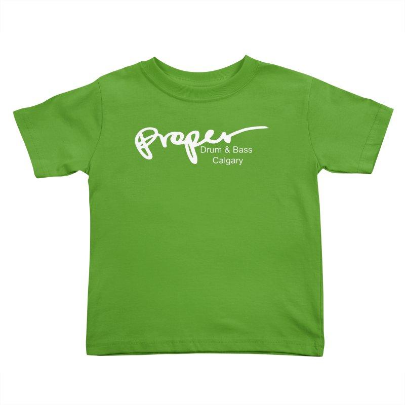 Proper OG Logo CALGARY (white) Kids Toddler T-Shirt by Properchicago's Shop