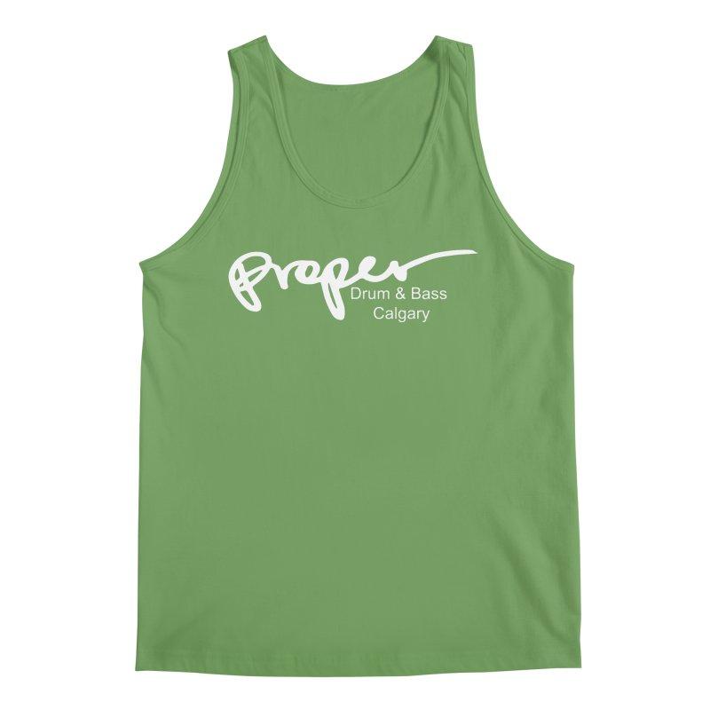 Proper OG Logo CALGARY (white) Men's Tank by Properchicago's Shop