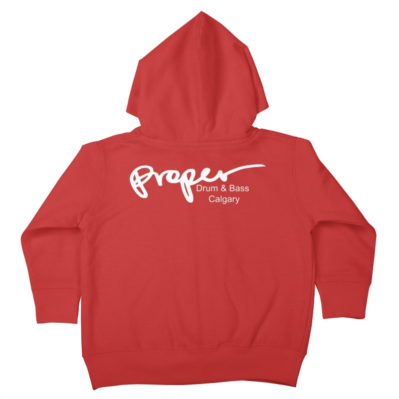 Proper OG Logo CALGARY (white) Kids Toddler Zip-Up Hoody by Properchicago's Shop
