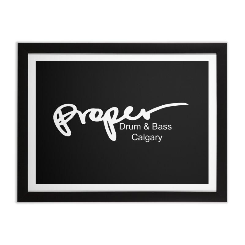 Proper OG Logo CALGARY (white) Home Framed Fine Art Print by Properchicago's Shop