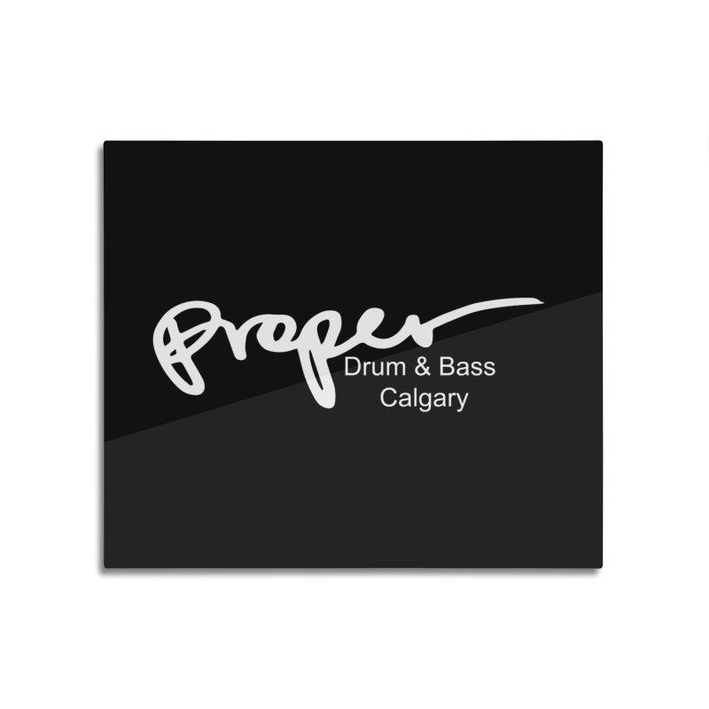 Proper OG Logo CALGARAY (white) Home Mounted Acrylic Print by Properchicago's Shop