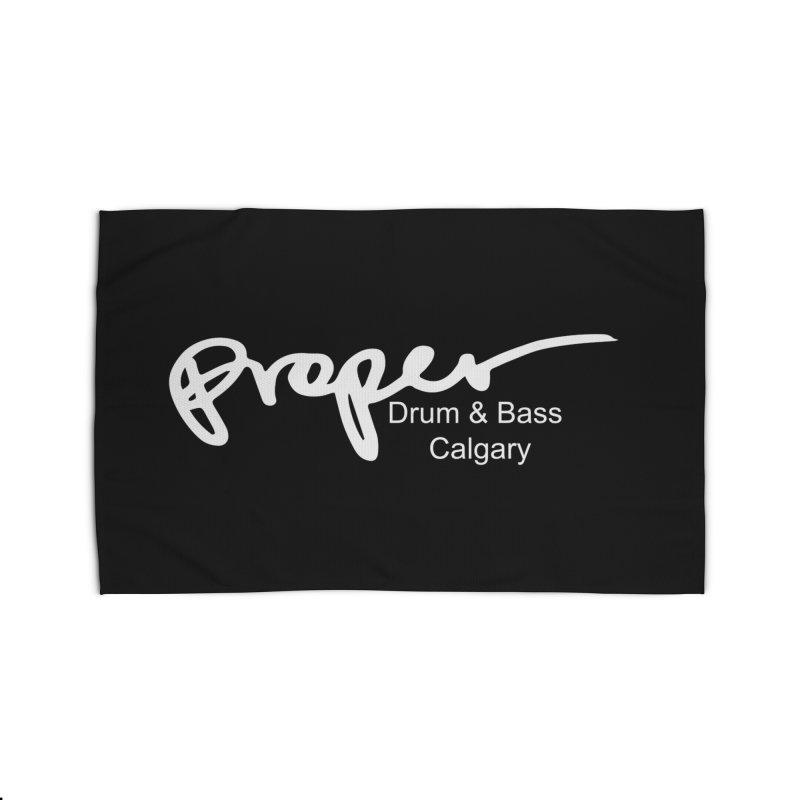 Proper OG Logo CALGARY (white) Home Rug by Properchicago's Shop