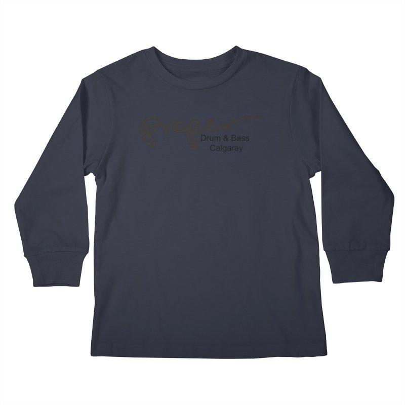 Proper OG Logo CALGARAY (white) Kids Longsleeve T-Shirt by Properchicago's Shop