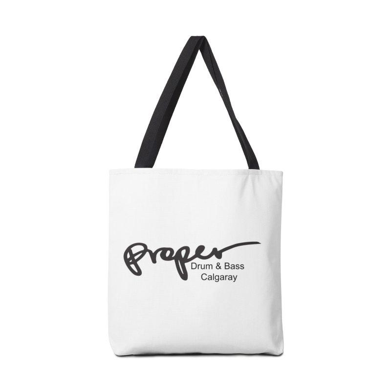 Proper OG Logo CALGARAY (white) Accessories Bag by Properchicago's Shop