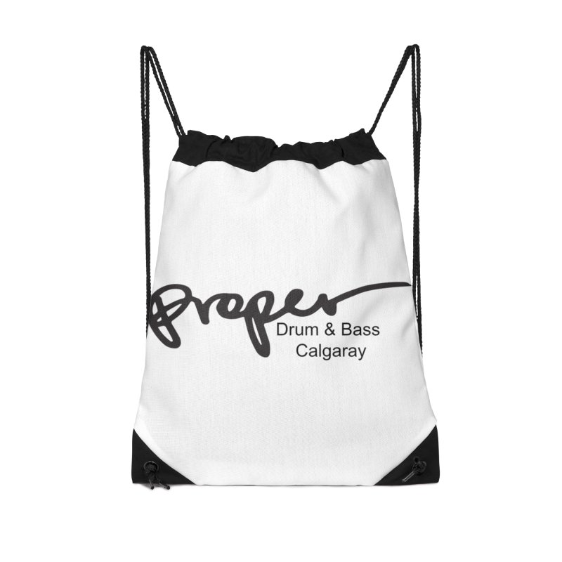 Proper OG Logo CALGARAY (white) Accessories Bag by Properchicago's Shop