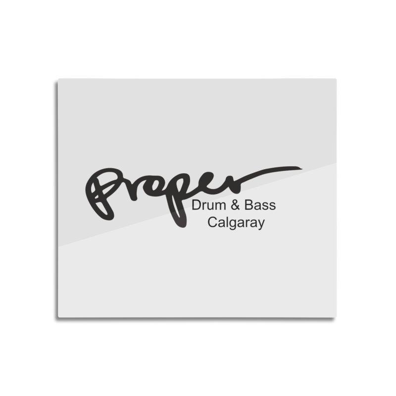 Proper OG Logo CALGARAY (white) Home Mounted Aluminum Print by Properchicago's Shop