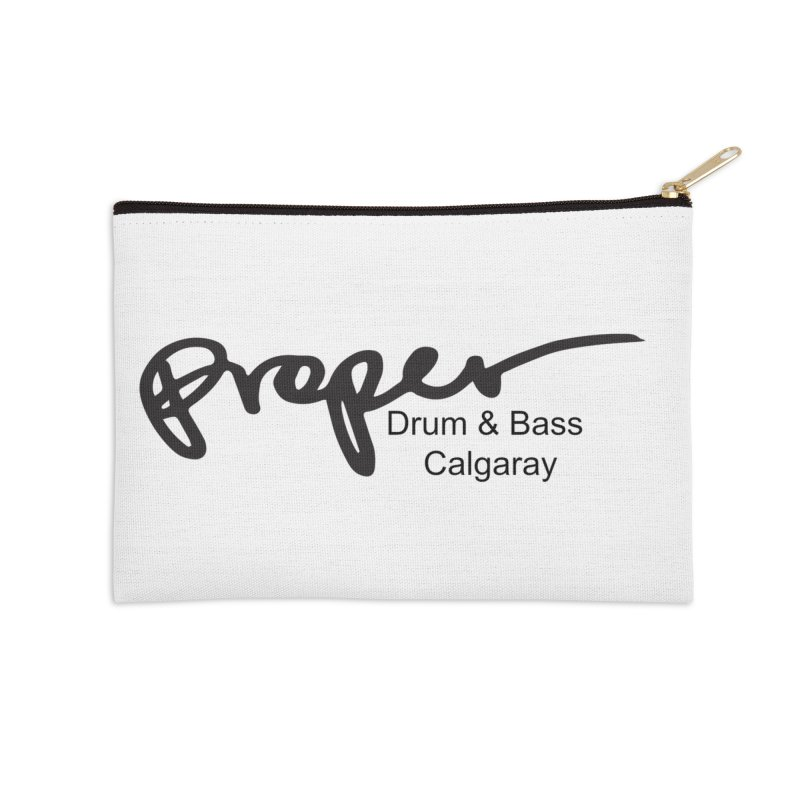 Proper OG Logo CALGARAY (white) Accessories Zip Pouch by Properchicago's Shop