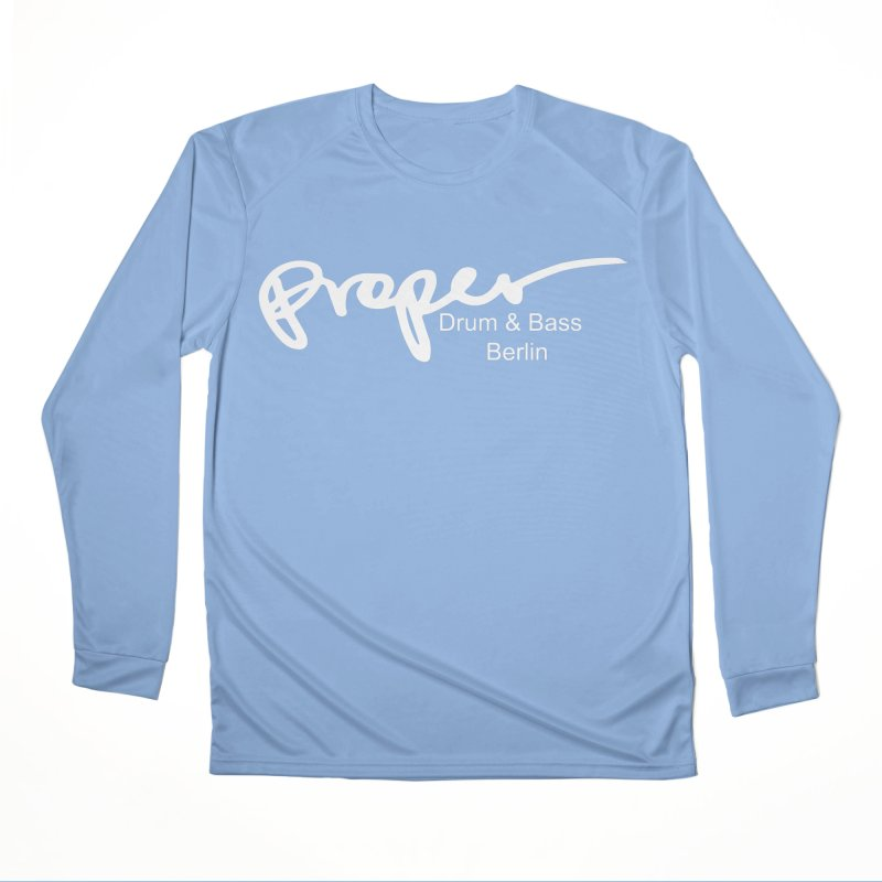 Proper OG Logo BERLIN (white) Men's Longsleeve T-Shirt by Properchicago's Shop