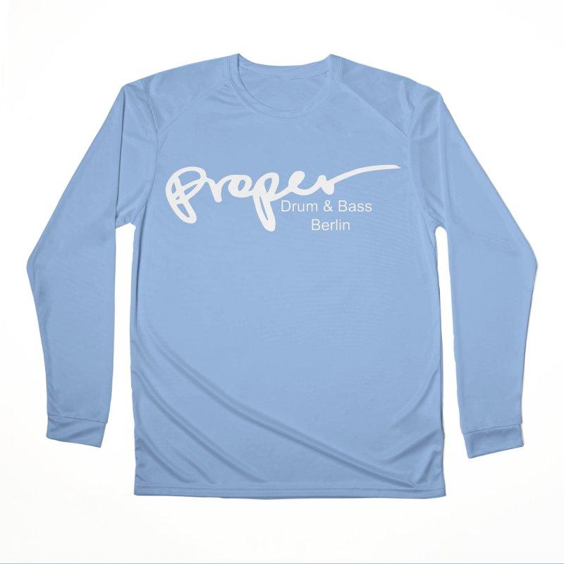 Proper OG Logo BERLIN (white) Women's Longsleeve T-Shirt by Properchicago's Shop