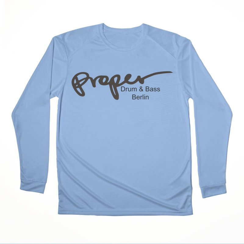 Proper OG Logo BERLIN (black) Men's Longsleeve T-Shirt by Properchicago's Shop