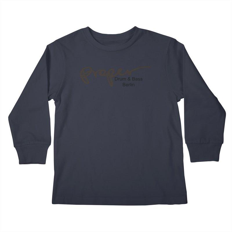 Proper OG Logo BERLIN (black) Kids Longsleeve T-Shirt by Properchicago's Shop