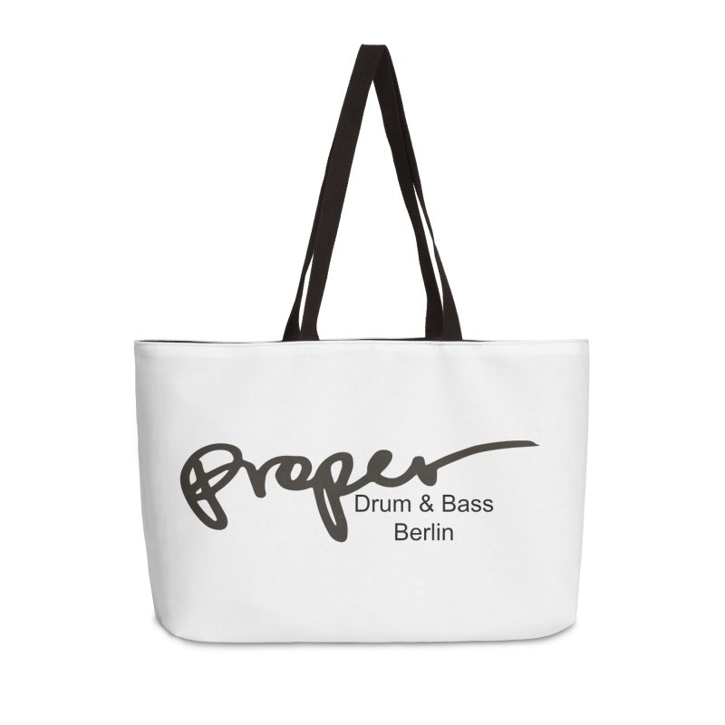Proper OG Logo BERLIN (black) Accessories Bag by Properchicago's Shop