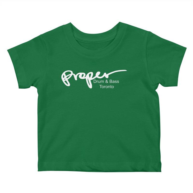Proper OG logo TORONTO (white) Kids Baby T-Shirt by Properchicago's Shop