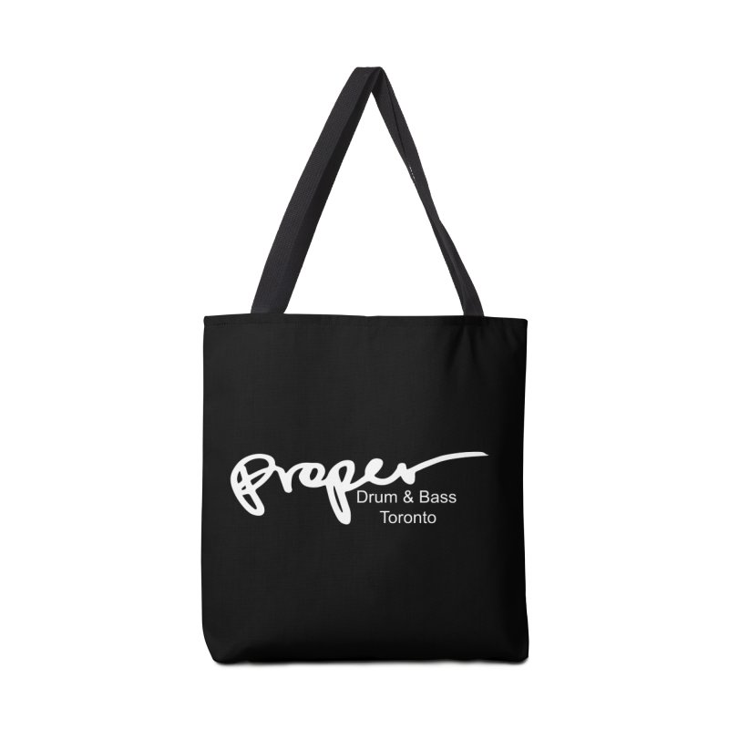 Proper OG logo TORONTO (white) Accessories Bag by Properchicago's Shop