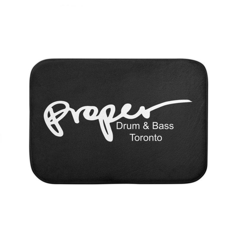 Proper OG logo TORONTO (white) Home Bath Mat by Properchicago's Shop