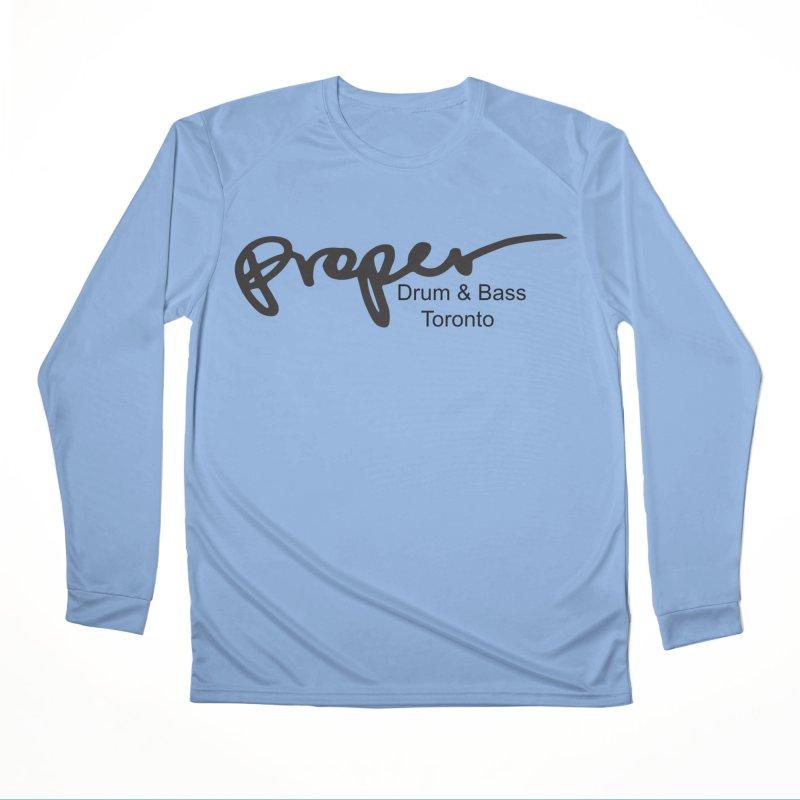 Proper OG logo TORONTO (bllack) Men's Longsleeve T-Shirt by Properchicago's Shop