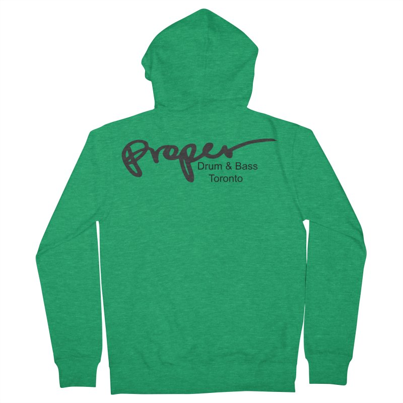 Proper OG logo TORONTO (bllack) Men's Zip-Up Hoody by Properchicago's Shop