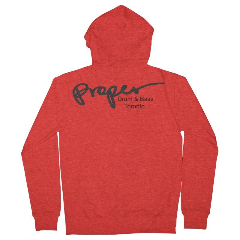 Proper OG logo TORONTO (bllack) Men's Zip-Up Hoody by Properchicago's Shop