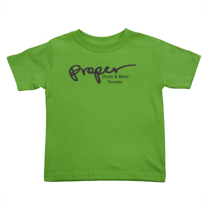 Proper OG logo TORONTO (bllack) Kids Toddler T-Shirt by Properchicago's Shop