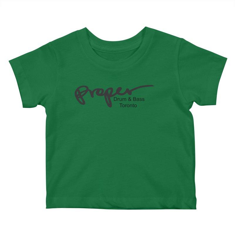 Proper OG logo TORONTO (bllack) Kids Baby T-Shirt by Properchicago's Shop