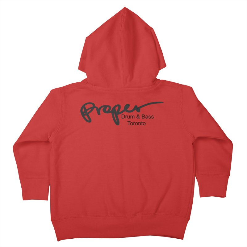 Proper OG logo TORONTO (bllack) Kids Toddler Zip-Up Hoody by Properchicago's Shop