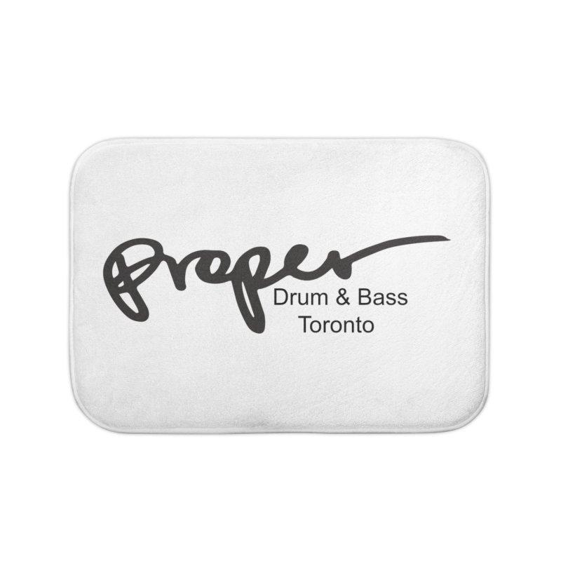Proper OG logo TORONTO (bllack) Home Bath Mat by Properchicago's Shop