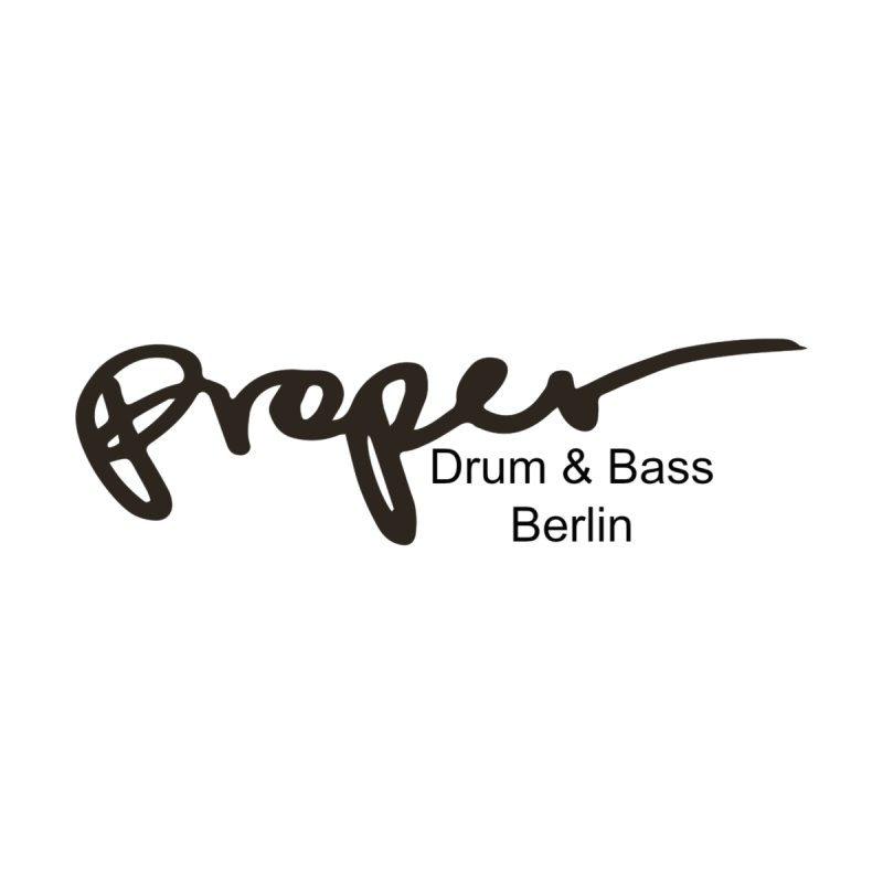 Proper OG Logo BERLIN (black) Home Fine Art Print by Properchicago's Shop