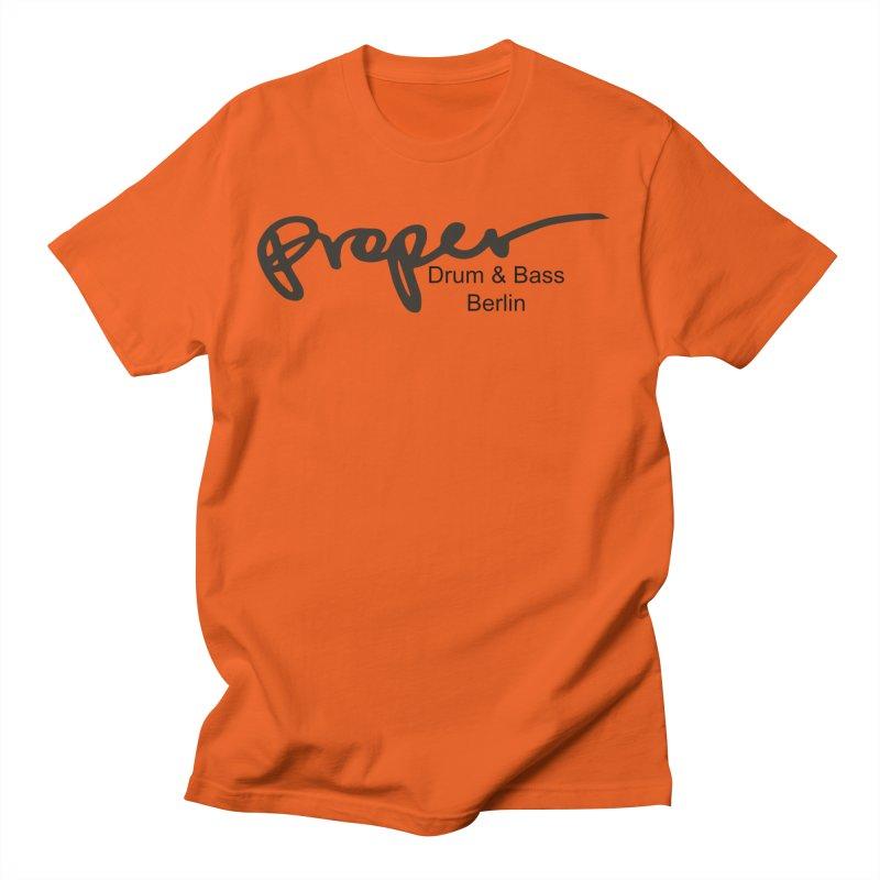 Proper OG Logo BERLIN (black) Men's T-Shirt by Properchicago's Shop