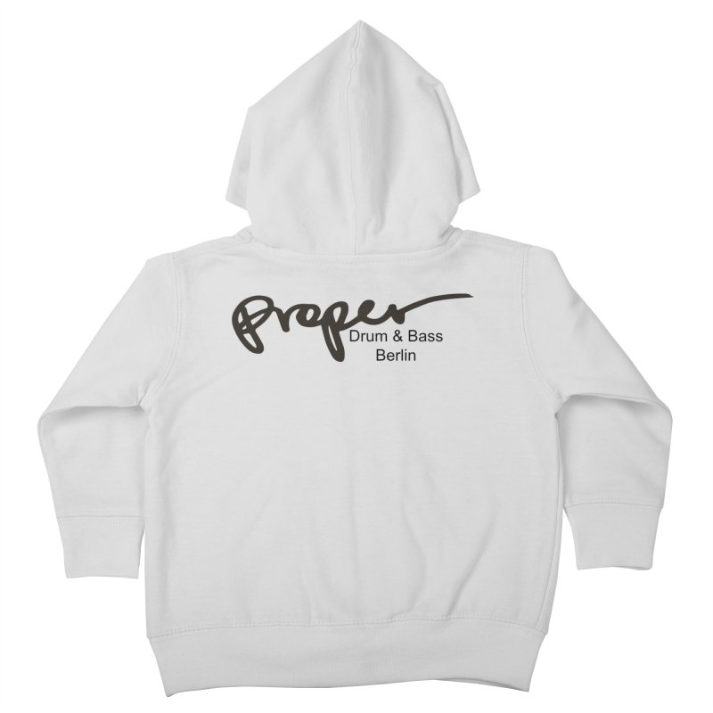 Proper OG Logo BERLIN (black) Kids Toddler Zip-Up Hoody by Properchicago's Shop