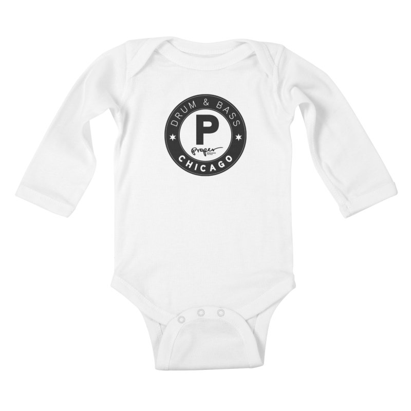 Proper logo Kids Baby Longsleeve Bodysuit by Properchicago's Shop